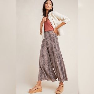 Anthropologie skirted wide leg pant